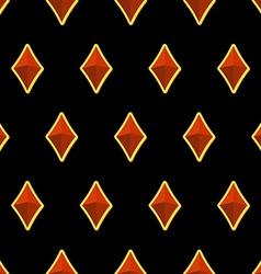 Precious stones on black background seamless vector image