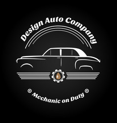 Retro vintage car logo vector