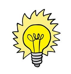 shiny lightbulb vector image