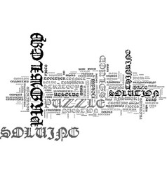 solved word cloud concept vector image vector image