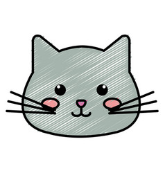Stuffed animal cat vector