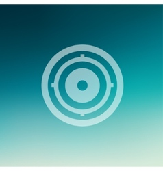 Target pad in flat style icon vector image