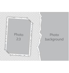 Torn edges paper photoframe modern template vector