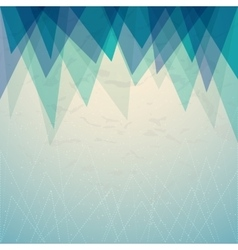 Triangular blue background cover report brochure vector