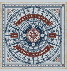 vintage british east india company typography vector image