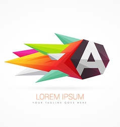 Colorful abstract logo with letter a vector