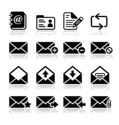 Email mailbox icons set vector image