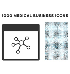 Links calendar page icon with 1000 medical vector