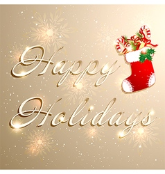 Golden Christmas Holidays Background vector image