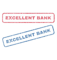 excellent bank textile stamps vector image