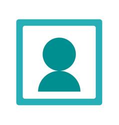 User pictogram in frame icon imag vector