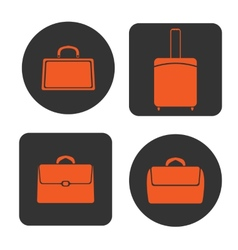 Icons bags vector