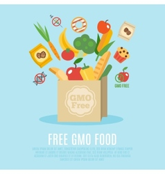 Gmo Free Concept Flat vector image