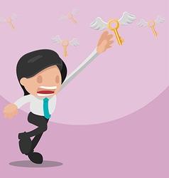 Man Worker Grab Gold Key vector image