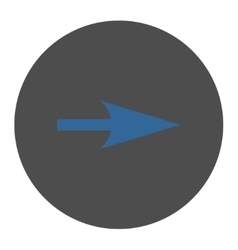 Arrow axis x flat cobalt and gray colors round vector