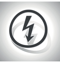 Curved voltage sign icon vector