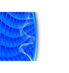 blue high-tech background vector image