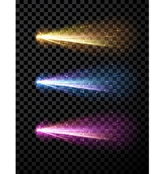 Comet set background vector