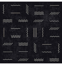 Monochrome retro lines pattern vector