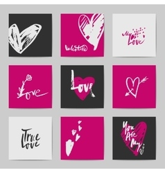 Abstract postcard valentine templates vector