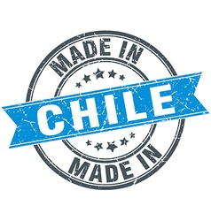 Made in chile blue round vintage stamp vector