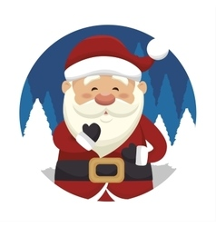 Santa claus isolated icon design vector