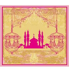 abstract religious background - Ramadan Kareem vector image