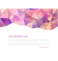 abstract triangular banner vector image vector image
