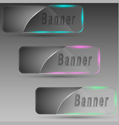 Banners with illumination vector