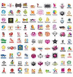 biggest collection of logo design and fashion vector image vector image
