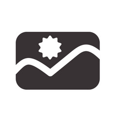 Black picture symbol icon design vector