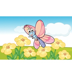 Cartoon butterfly vector image vector image