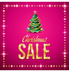 christmas sale pink vector image