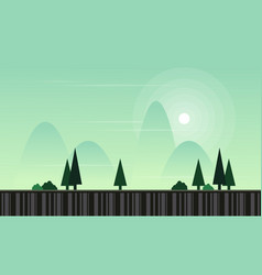 Collection stock game background landscape vector