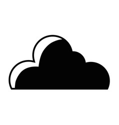 contour nice cloud shape to sky weather vector image vector image