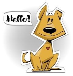 cute cartoon doggy vector image