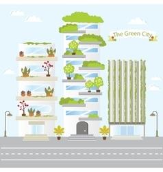 Eco green city future building design life nature vector