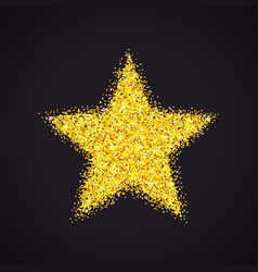 golden glitter star vector image