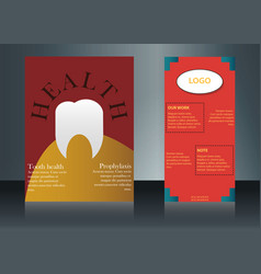 Health care brochure for clinic with doctors vector