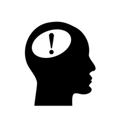 human head with exclamation mark vector image