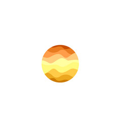 isolated abstract orange color round shape logo on vector image vector image