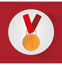 Isolated medal of winner design vector