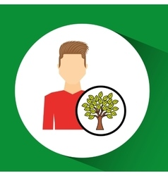 Man symbol environment eco tree icon design vector