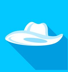 Panama hat icon flat style vector