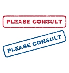 Please Consult Rubber Stamps vector image