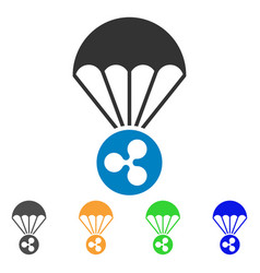 Ripple parachute icon vector