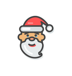 santa claus icon christmas vector image