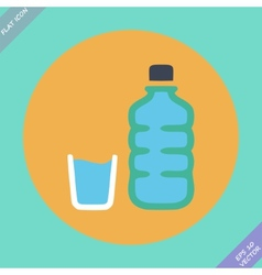 Set of water bottle and amp - vector image vector image
