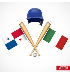 Symbols of baseball team panama and mexico vector