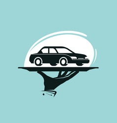 Taxi service logo car wash dealership dealer vector